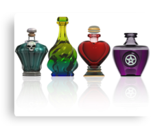 Collection of potion bottles Canvas Print
