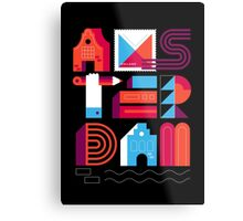 Postcards from Amsterdam / Typography Metal Print