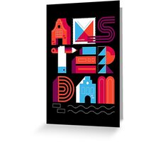 Postcards from Amsterdam / Typography Greeting Card