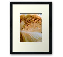 Close-up of a cafe latte coffee Framed Print