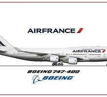 Airlines Collection Boeing 747-400 Air France by wilsoncara