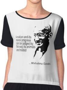 Gandhi Animal Rights T-Shirt Chiffon Top