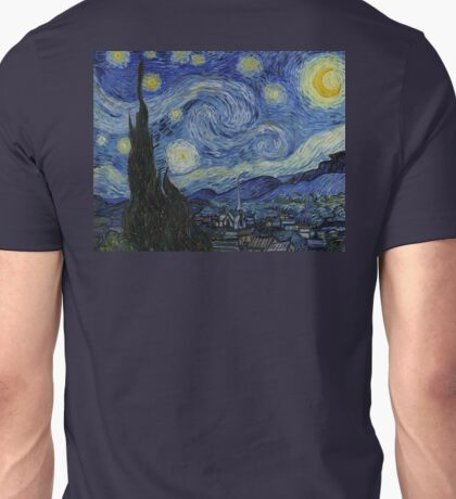 VINCENT, Van Gogh, Starry Night, Vincent van Gogh, Art, Artist, 1889  Unisex T-Shirt