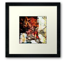 Romantus Distressed Collection: Chi Framed Print