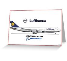 Airlines Collection Boeing 747-8i Lufthansa Greeting Card