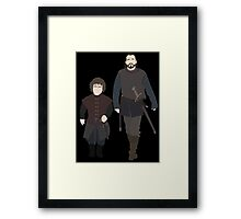 Bronn & Tyrion (Game of Thrones) Minimal Framed Print
