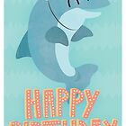 Happy Dolphin Birthday Greetings Card by Claire Stamper