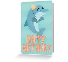 Happy Dolphin Birthday Greetings Card Greeting Card