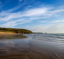 Perranporth Beach,North Cornwall by Laura Davey