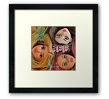 BFF Barbies forever friends! Framed Print