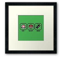 Eat Sleep Game Framed Print