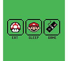Eat Sleep Game Photographic Print