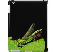beauty emerges from the beast- green dragonfly iPad Case/Skin