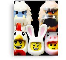 Cute Lego Animal heads Canvas Print
