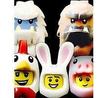 Cute Lego Animal heads Photographic Print