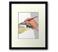 Artist painting a picture Framed Print