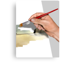 Artist painting a picture Canvas Print