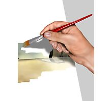 Artist painting a picture Photographic Print