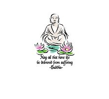 Vegetarian Quote Buddha by T-ShirtsGifts