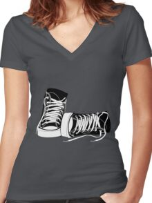 Classic High Tops Women's Fitted V-Neck T-Shirt