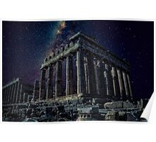 Starlight over an ancient monument.. Poster