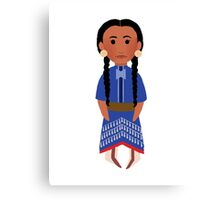 Lakota Sioux Girl Canvas Print