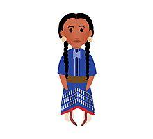 Lakota Sioux Girl Photographic Print