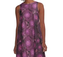 Seamless pattern with abstract flowers print illustration A-Line Dress