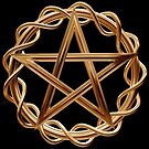 Golden pentagram by Paul Fleet