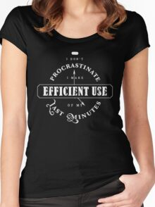 Efficient Use Of Last Minutes Procrastination Women's Fitted Scoop T-Shirt