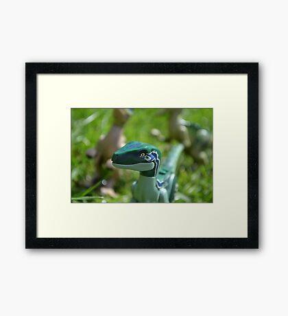 LEGO Velociraptor Framed Print