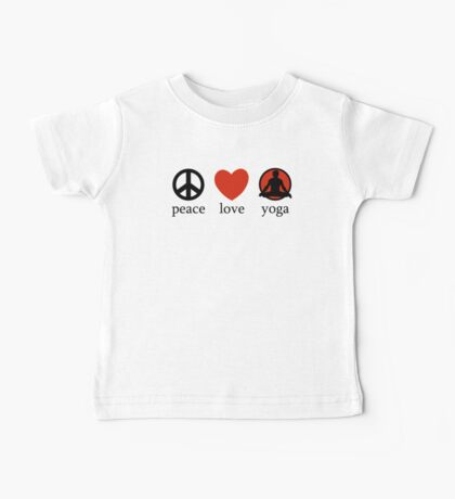 Peace Love Yoga T-Shirt Baby Tee