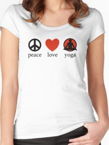 Peace Love Yoga T-Shirt Women's Fitted Scoop T-Shirt