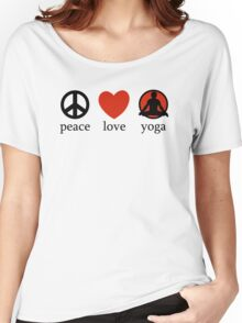 Peace Love Yoga T-Shirt Women's Relaxed Fit T-Shirt