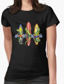 Gecko Surf Men's Surfing Womens Fitted T-Shirt