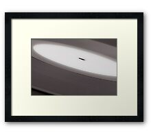Record background Framed Print