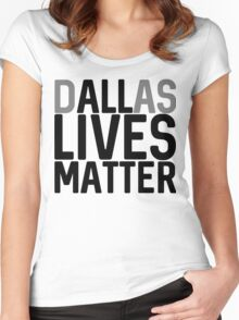 DALLas Lives Matter Women's Fitted Scoop T-Shirt