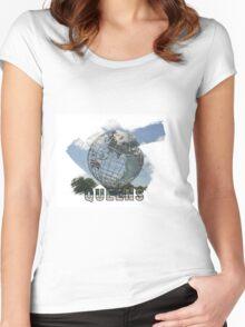 Queens, New York Grunge Logo Women's Fitted Scoop T-Shirt