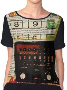 funky geek nerd shortwave radio retro calculator  Chiffon Top