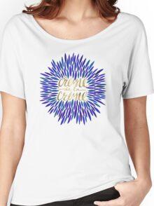 Crème de la Crème – Navy & Gold Women's Relaxed Fit T-Shirt