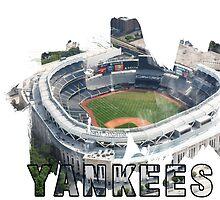 Yankee Stadium Grunge Logo by retrosauce