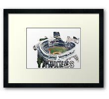 Yankee Stadium Grunge Logo Framed Print