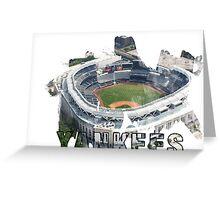 Yankee Stadium Grunge Logo Greeting Card