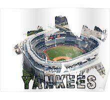 Yankee Stadium Grunge Logo Poster