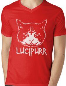 Lucipurr Satan Funny Cat Goth Mens V-Neck T-Shirt