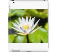 White Lotus Water Lily iPad Case/Skin