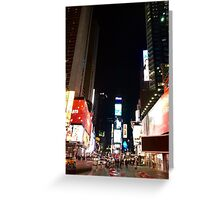 Time Square NYC Greeting Card