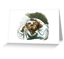 The Desperate Sloth Greeting Card