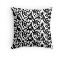 Black and White Zebrafish in the Reeds Throw Pillow