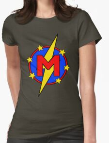 My Cute Little Super Hero - Letter M Womens Fitted T-Shirt